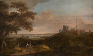 Royal Observatory Greenwich from Crooms Hill, English school, c1680.