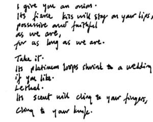 Carol Ann Duffy's poem Valentine