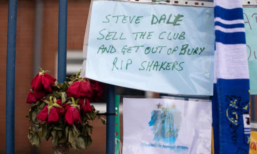 Bury face expulsion from the Football League because it cannot prove it is financially stable