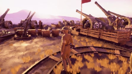 A soldier in a scene from the video game 11-11: Memories Retold