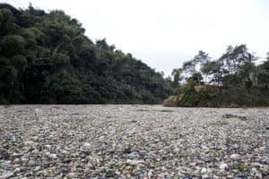 Rubbish chokes the Citarum in Cipatik, West Java, Indonesia