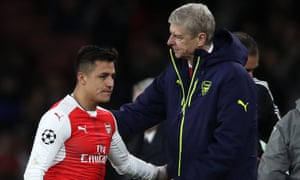 Arsène Wenger, right, said talks with Alexis Sánchez over extending the forward's Arsenal contract had not yielded an agreement.