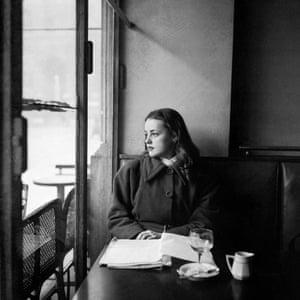 Jeanne Moreau in Paris in the 1940s