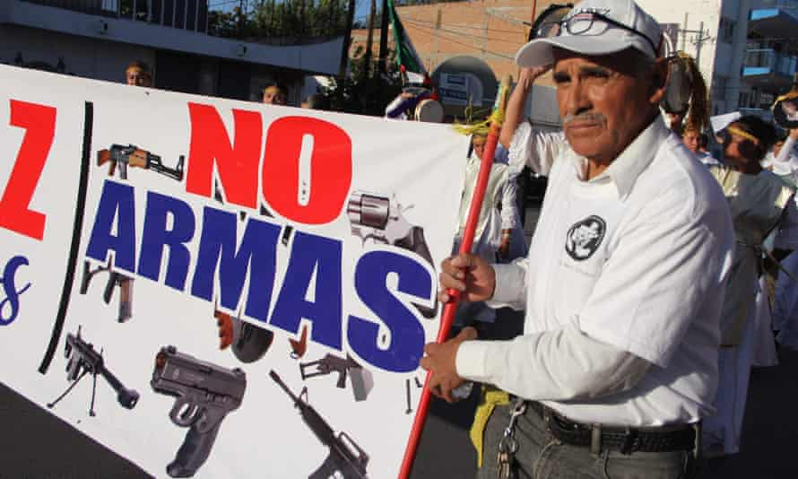 'On Wednesday, Mexico announced that it's seeking at least $10 billion in compensation from America's 11 major gun manufacturers for the havoc the guns have wrought south of the border.'