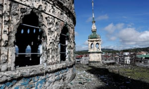 The bullet-riddled domes of Marawi's grand mosque serve as reminders of the brutal siege of 2017 by Isis affiliate the Maute Group in the southern Philippines.