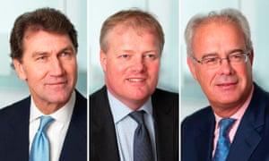 Melrose founders David Roper, Simon Peckham and Christopher Miller