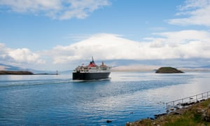 A ferry heads for the Isle of Mull from Oban.