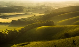 View from Firle Beacon at sunrise