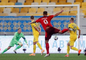 Haris Seferovic, right, thumps home Switzerland's equaliser.a