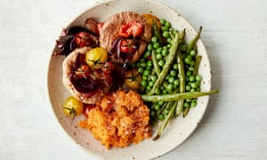 Anna Jones's seeded yorkshire puddings with rainbow veg.