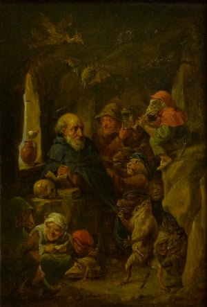 """""""The Temptation of Saint Anthony, oil on panel, David Teniers II (1610–1690), Brodick Castle, Garden & Country Park"""""""