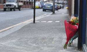 Flowers have been placed near where the 14-year-old was stabbed to death.