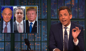 Seth Meyers: 'Trump didn't drain the swamp. He bottled it and sold it as Dr Trump's miracle healing elixir.'