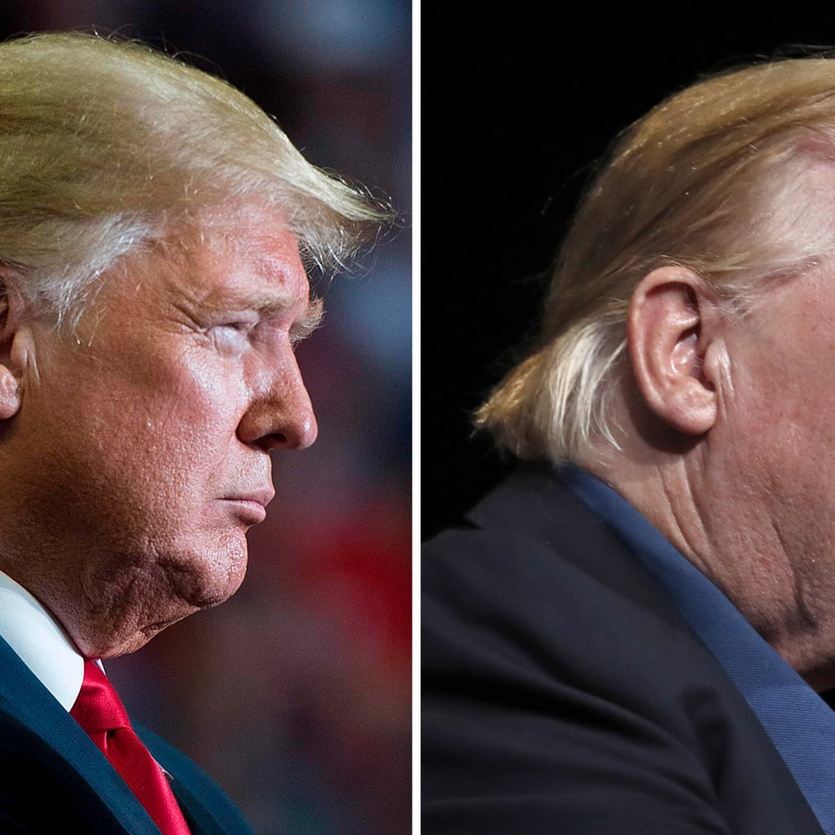 Comb Over Donald Trump Sports New Hairstyle After Golf Trip Us News The Guardian