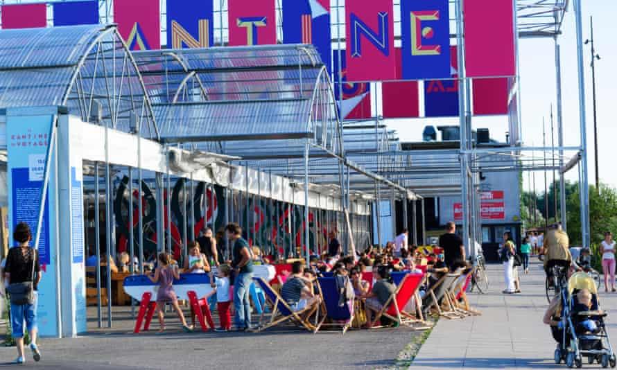 La Cantine du Voyage cafe on the Île de Nantes, Nantes, France.