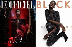 Adut Akech on covers for L'Officiel Singapore and Black magazine