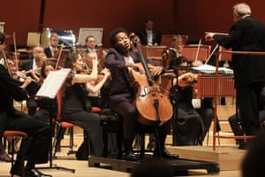 Sheku Kanneh-Mason, soloist with the Philharmonia Orchestra, conducted by Martyn Brabbins, at the Anvil.