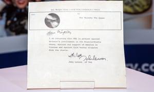What am I bid for John Lennon's letter?