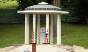 The Magna Carta memorial at Runnymede, near Egham, Surrey.