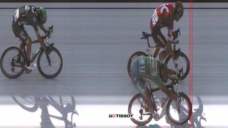 The photo-finish won by Peter Sagan.
