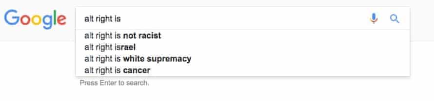 google alt-right