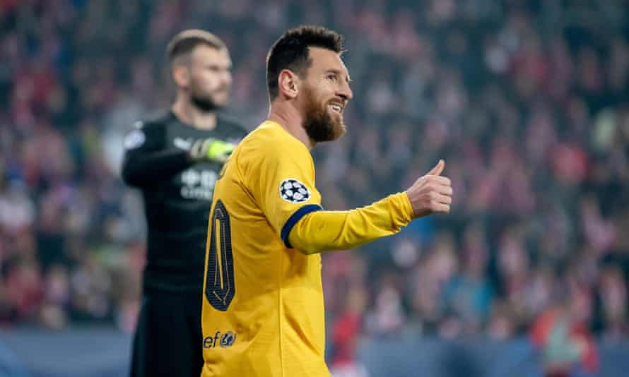 Lionel Messi netted in his 15th consecutive Champions League season.