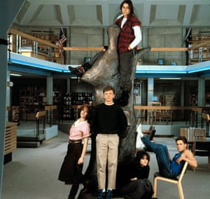 A scene from the 1985 film The Breakfast Club, in which five students endure a day's detention.