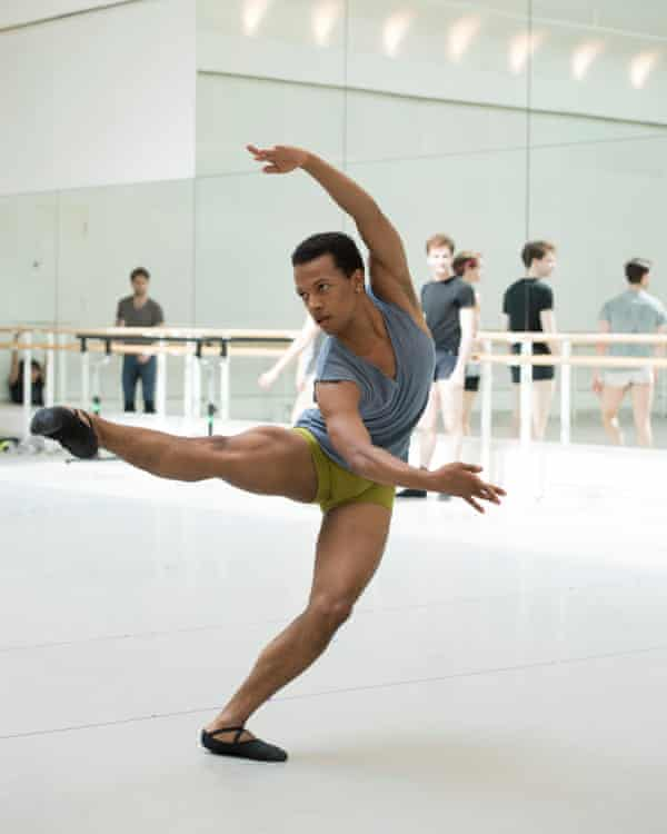 Solomon Golding rehearsing with the Royal Ballet.