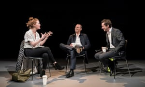 Zara (Clare Foster), Ed (Stephen Campbell Moore) and Tim (Lee Ingleby) in Consent.