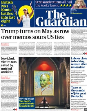 The Guardian front page 9/07/19