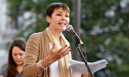Caroline Lucas acknowledged there were women of colour standing up to what she called a 'reckless game with Britain's future'.