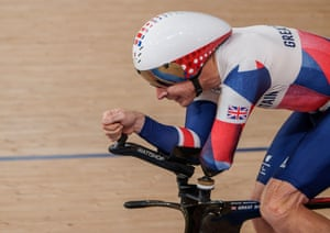 Jaco Van Gass of Great Britain competing on his way to gold in the Track Cycling Men's C3 3000m Individual Pursuit.
