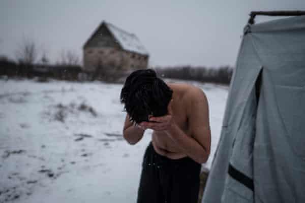 Migrant in Serbian village of Horgoš