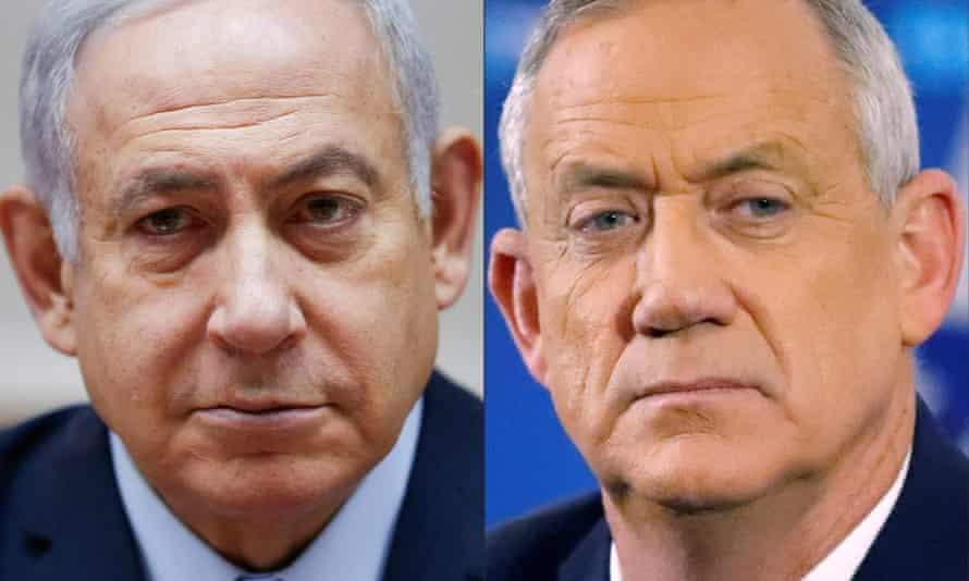 Netanyahu (left) and Gantz.