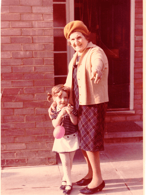 Tracy-Ann Oberman with her great-grandmother, Annie.