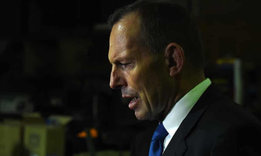 Tony Abbott in Canberra