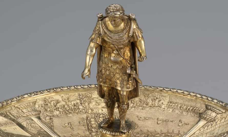 Figure of Otho. The Caesars were gilded in the 19th century