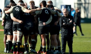 England trained with Georgia in Oxford but as brawl broke out between the sides.
