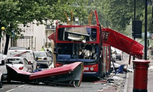 The devastation in Tavistock Square.