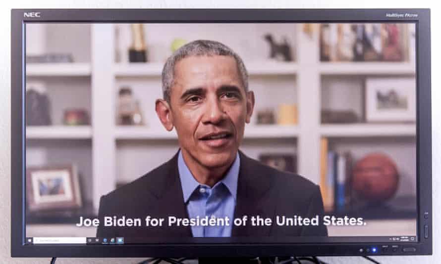 Barack Obama endorses Biden via video message in mid-April.