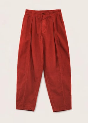 Red seersucker trousers, £175, youmustcreate.com