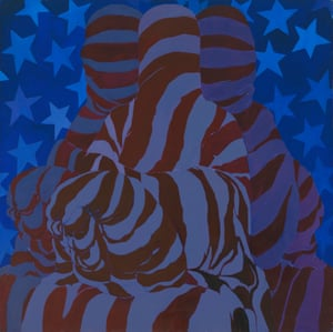 May Stevens (b. 1924), Dark Flag, 1976