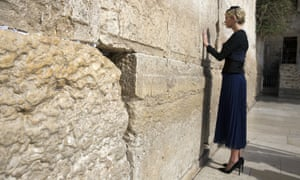 Ivanka Trump touches the Western Wall, Judaism's holiest prayer site
