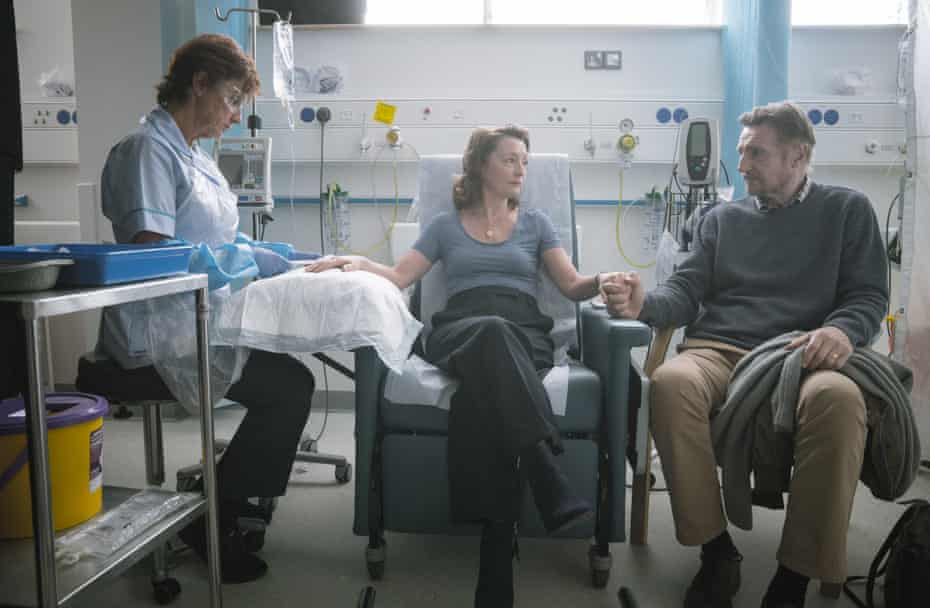 Lesley Manville, centre, and Liam Neeson, right, in Ordinary Love.