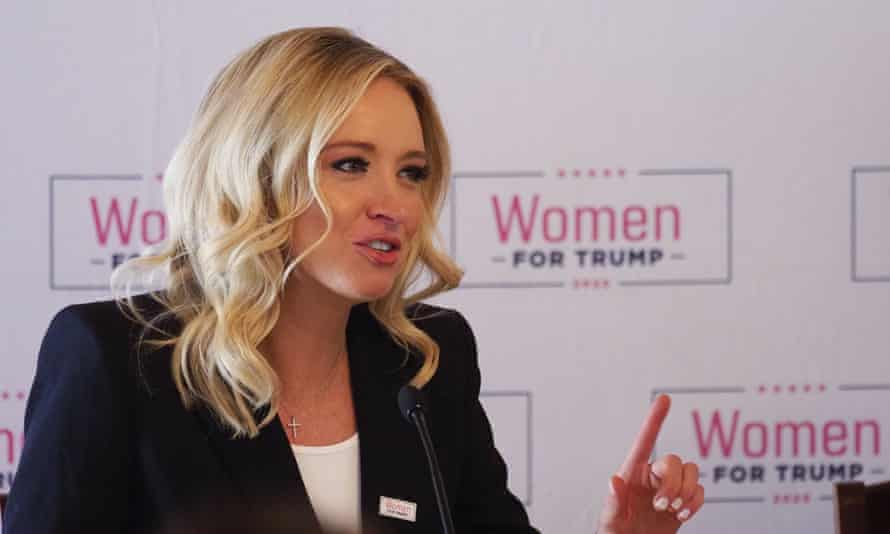 Kayleigh McEnany attends a Women for Trump event in Iowa on 16 January.