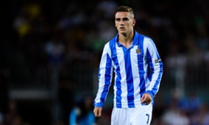 Antoine Griezmann in action for Real Sociedad in 2012.