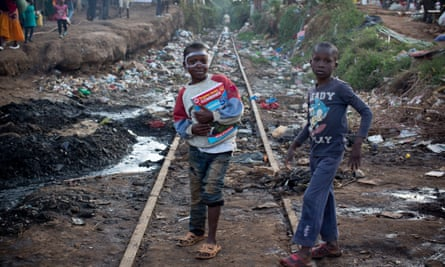 Two boys in Kibera Nairobi