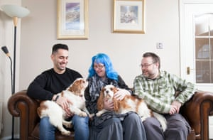 Hamid, 38, Iran with Gen and Alison, hosts in Glasgow