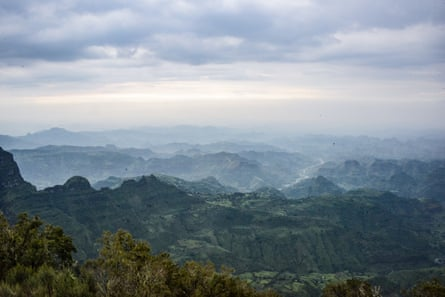 Ethiopia's Simien Mountains at dusk
