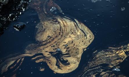 Oil in the ocean